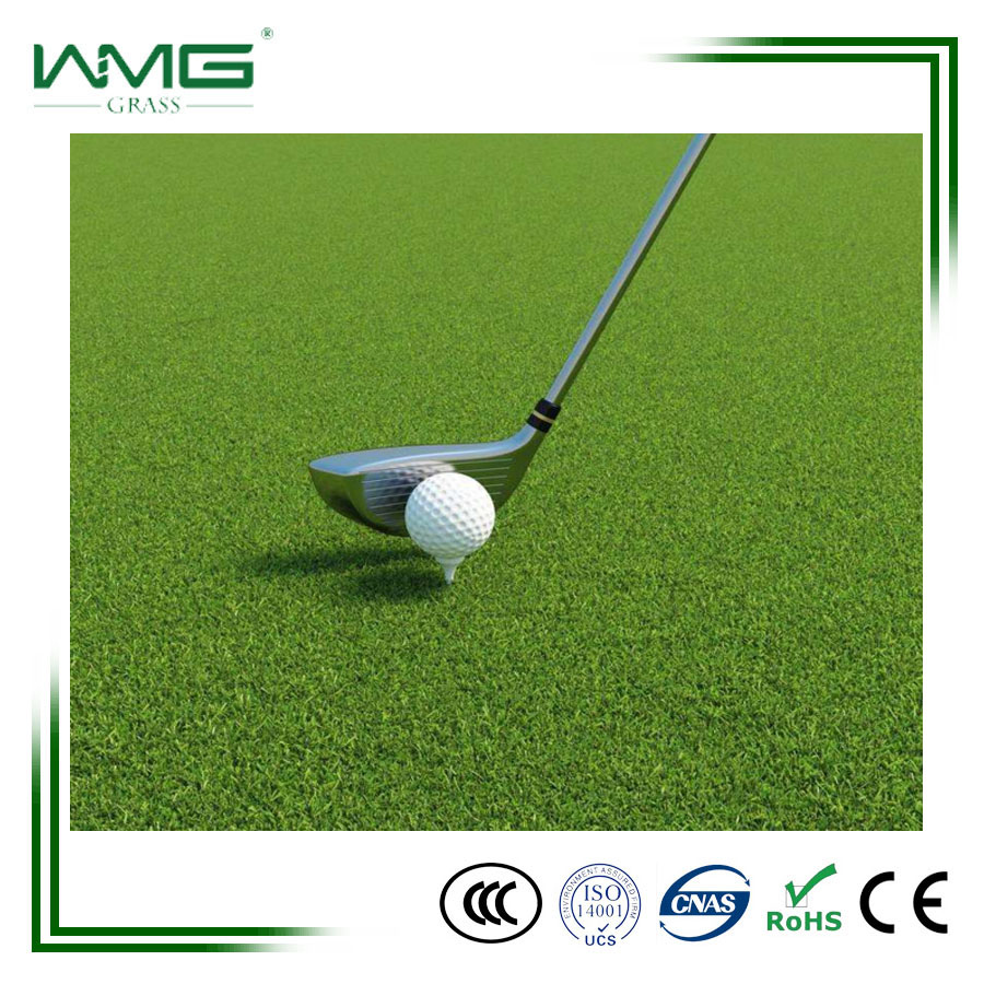 Laying sport artificial grass for golf